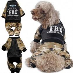 Őszi és téli álcázás Az FBI kisállat ruhái vastag, meleg kutyaruhák Négy lábú pamutruházat Kisállat ruházat