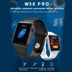 W58 pro Bluetooth Smart Watch Teljes érintőképernyő Testhőmérsékleti teszt Szívritmus vérnyomás Fitness karkötő