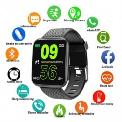D13 Smart Watch csuklópántos sport fitnesz vérnyomás pulzusszám Hívásüzenet Emlékeztető lépésszámláló 116 Plus