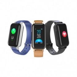 Intelligens sportóra Bluetooth5.0 fejhallgató-hívás-emlékeztető pulzusszám vérnyomásmérő multifunkciós intelligens