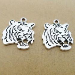12db Tiger Charms Állatok Medálok Antik ezüst hang 22 * 24mm, Ékszerkészítés