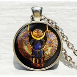 Egyiptomi skarabi medál, ókori egyiptomi ékszerek, egyiptomi nyaklánc, egyiptomi ékszerek