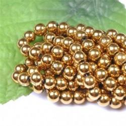 Metallic Gold - Természetes drágakő kerek kő laza gyöngyök tétel 4mm 6mm 8mm 10mm barkács ékszerek készítése