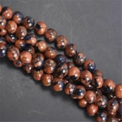 Mixture Gold Sand&Blue Sand - Természetes drágakő kerek kő laza gyöngyök tétel 4mm 6mm 8mm 10mm barkács ékszerek