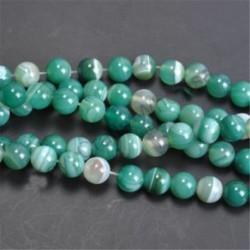 Green Stripe Agate - Természetes drágakő kerek kő laza gyöngyök tétel 4mm 6mm 8mm 10mm barkács ékszerek készítése