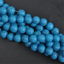 Blue Turquoise - Természetes drágakő kerek kő laza gyöngyök tétel 4mm 6mm 8mm 10mm barkács ékszerek készítése