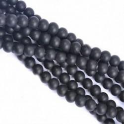 Matte Black Onyx - Természetes drágakő kerek kő laza gyöngyök tétel 4mm 6mm 8mm 10mm barkács ékszerek készítése