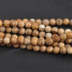 Picture Stone - Természetes drágakő kerek kő laza gyöngyök tétel 4mm 6mm 8mm 10mm barkács ékszerek készítése