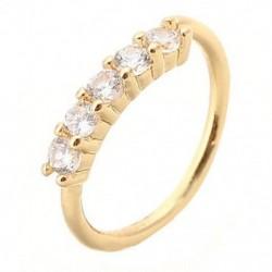 Gold - Orrgyűrű fülkarika Tragus Helix porc fülbevaló kristály rozsdamentes acélból