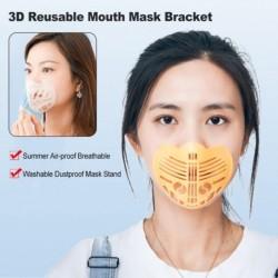 Unisex 3D újrafelhasználható szájmaszk tartó konzol Mosható porálló maszk állvány