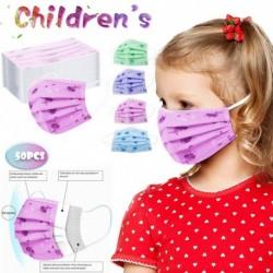 50db Unisex eldobható háromrétegű gyerek szájmaszk - Rajzfilmes - Róka mintákkal