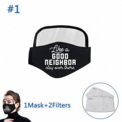 Unisex porálló fekete újrafelhasználható pamut arc maszk szempajzs   2 szűrő