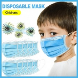10 db eldobható szájmaszk Gyereknek Orális védelem 3 rétegű szűrő