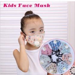 Gyerek PM2.5 szájmaszk légzőszeleppel porálló, páramentesítő pamut arcmaszk