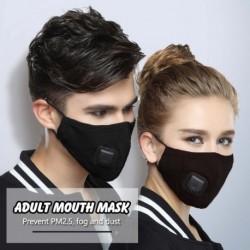 Felnőtt PM2,5 pamut szájmaszk lélegeztető szelep szűrővel