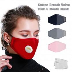 Unisex pamut lélegző szelep PM2,5 szájmaszk por elleni szennyeződés elleni maszk