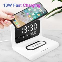 10W Qi vezeték nélküli  töltőpad Naptár óra Gyors töltés kreatív óra iphonehoz a Samsung Huawei