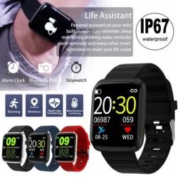 116Pro intelligens óra Android és iOS telefonokhoz IP67 vízálló fitneszkövető óra pulzusmérővel Step Sleep Sleepwatch
