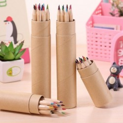 12Colors színes ceruzaírás Rajz ceruzák gyerek iskolai helyhez dobozban