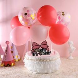 14db / csomag 5 hüvelykes léggömb tortafedél felhő alakú konfetti léggömb tortafedeles lufi születésnapi baba zuhany