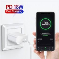 18W PD USB TypeC kábel gyorstöltő adapter iPhone 11 Pro XR X Xs Max 8 gyors töltéshez Utazási PD töltőport