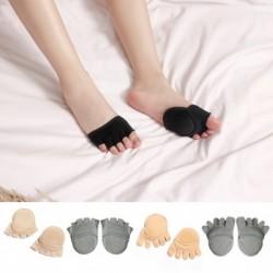 1 pár divatos női vastag alsó ütésálló lábujj zokni női csúszásgátló láthatatlan öt ujjas csúszásmentes zokni