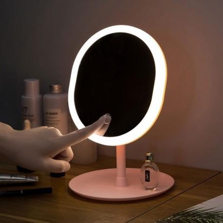 1db asztali bábu sminktükör USB tároló vezetett arc  kitöltő fény