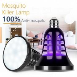 220V E27 UV LED izzó szúnyoggyilkos lámpa 110V otthoni lámpák rovarölő fény USB kültéri kemping 5V poloska