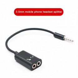 3,5 mmes AUX audio elosztókábel fülhallgató fejhallgató adapter férfi  2 női audio adapter