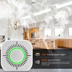 433 MHz vezeték nélküli intelligens Wifi tűzjelző érzékelő füstérzékelő