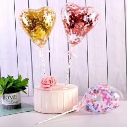 5 hüvelykes konfetti sütemény lufi kis szív átlátszó léggömb születésnapi party esküvői dekorációk kreatív