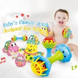 Baba csörgők játék puha műanyag állati zene kézfogás játék korai oktatási kézi csengő babajáték véletlenszerű
