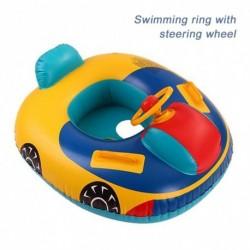 Baba úszó gyűrű fogantyúval hónalj csecsemő úszóülés csónak medence rajzfilm felfújható medence fürdő autó