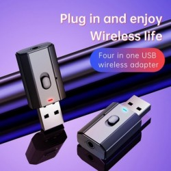 Bluetooth adapter Mini USB vezeték nélküli Bluetooth adóvevő 3,5 mm AUX