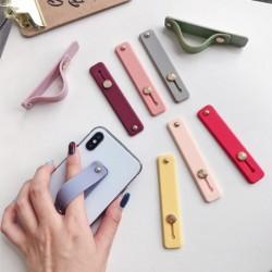 Candy Color Finger Ring Holder mobiltelefon tartó állvány push pull matrica paszta univerzális kézi szalag telefon tartó