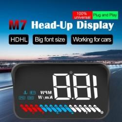 Autó HUD Head Up kijelző OBD II GPS kettős rendszersebesség MPH KM / h Motor fordulatszám túllépés Figyelmeztetés