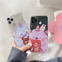 Cartoon Monsters átlátszó telefontok fedél Redmi Note hátlap puha tokokhoz