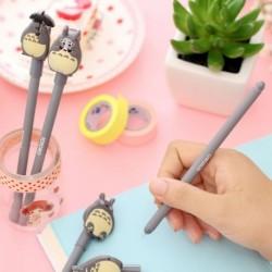 Kreatív Totora fekete 0,5 mmes zselés toll rajzfilm aranyos toll írószer ajándék