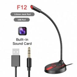 Asztali mikrofon számítógép mikrofon 360 ° ban szabadon állítható Studio mikrofon