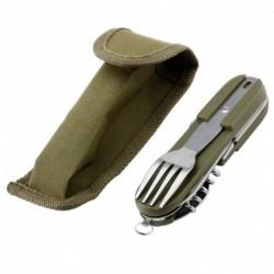 Levehető 7 az 1ben kültéri összecsukható evőeszköz Multi Camping Edensankanálvilla készlet Újrafelhasználható