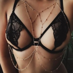 Divat egyszerű szexi többrétegű bojt testlánc női strand kiegészítők test ékszerek