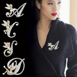 Divat édes virág tündér manó angyal angol levél bross ing gallér tű Pin női ékszer kiegészítők