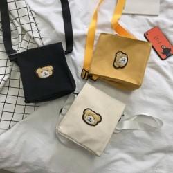 Divat női aranyos medve messenger táska női vászon táska melltáska válltáska