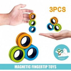 Ujj mágneses gyűrűk játék antistressz fidget mágneses karkötő gyűrű gyerek (3 db)