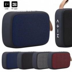 G2 szövet négyzet alakú vezeték nélküli hangszóró USB kártya Bluetooth hangszóró kültéri hordozható kerékpáros