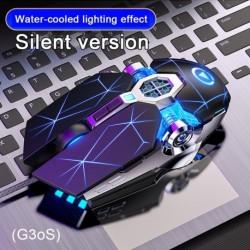 Játékegér Mechanikus vezetékes néma egér 7 gombos háttérvilágítású számítógép egér Támogatja a