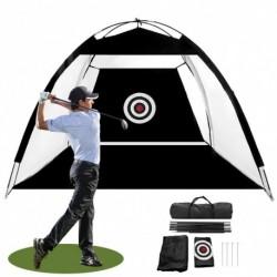 Golfütő hálók edzőeszközök Gyakorolják a nettó golfhálókat a hátsó udvarban, a terepen való forgatáshoz cél