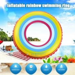 Felfújható szivárványos festett Mentőöv vicces gyerekjáték Felnőtt úszógumi