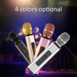 K6 vezeték nélküli mikrofon Bluetooth karaoke mikrofon hangszóró dupla hangszóró hordozható intelligens karaoke mikrofon