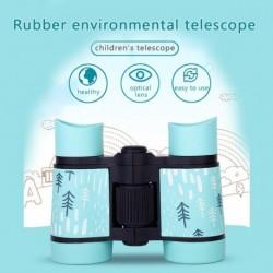 Gyerek távcső ütésálló játék madármegfigyeléshez oktatási tanuláshoz 4X30 zoom nagy zsebű teleszkóp puha gumi